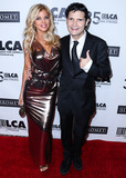 Corey Feldman Photo - BEVERLY HILLS LOS ANGELES CALIFORNIA USA - OCTOBER 19 Donna DErrico and Corey Feldman arrive at the Last Chance For Animals 35th Anniversary Gala held at The Beverly Hilton Hotel on October 19 2019 in Beverly Hills Los Angeles California United States (Photo by Xavier CollinImage Press Agency)