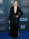Sarah Snook Photo - SANTA MONICA LOS ANGELES CALIFORNIA USA - JANUARY 12 Actress Sarah Snook wearing Galvan London with Stuart Weitzman shoes and Asprey London earrings arrives at the 25th Annual Critics Choice Awards held at the Barker Hangar on January 12 2020 in Santa Monica Los Angeles California United States (Photo by Xavier CollinImage Press Agency)
