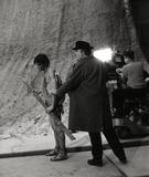 Hiram Keller Photo - Frederico Fellini and Hiram Keller on the Set of Satyricon Photo Bob DearGlobe Photos Inc