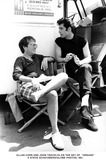Allan Carr Photo - Allan Carr and John Travolta on the Set of Grease Steve SchatzbergGlobe Photos Inc