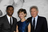 Graumans Chinese Theatre Photo - Chadwick Boseman Calista Flockhart and Harrison Ford During the Premiere of the New Movie From Warner Bros Pictures 42 Held at Graumans Chinese Theatre on April 9 2013 in Los Angeles Photo Michael Germana - Globe Photos