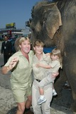 Terry Irwin Photo - The Crocodile Hunter Collision Course Premiere in Los Angeles CA Steve and Terri Irwin with Daughter Bindi Beside a Elephant Photo by Fitzroy Barrett  Globe Photos Inc 6-29-2002 K25463fb (D)