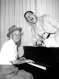 Jimmy Durante Photo - Milton Berle with Jimmy Durante Supplied by Globe Photos Inc