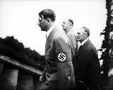 Adolf Hitler Photo - Crisis at Munich Adolf Hitler and Neville Chamberlain Walk Up the Steps to Hitlers Lair in Berchtesgarten 9151938 Supplied by Globe Photos Inc