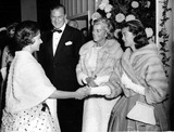 Gary Cooper Photo - They Came to Cordura Premiere 102959 Mr and Mrs Gary Cooper Watch As Their Daughter Maria Shakes Hands with Princess Margaret Globe Photos Inc