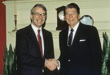 Ronald Reagan Photo - John Major with Ronald Reagan Photo by Cp-Globe Photos Inc