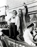Virginia Mayo Photo - Virginia Mayo and Tab Hunter in Vintage Automobile Along the Silver Chalice Parade Route Supplied by Globe Photos Inc