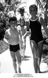 JFK Jr Photo - John F Kennedy Jr in Hawaii with Sister Caroline Right Uncle Peter Lawford Cousin Sydney Lawford 1966 Photo the Lawford CollectionGlobe Photos Inc