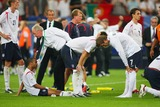 Ashley Cole Photo - Ashley Cole Sven Goron Eriksson John Terry  After Penalty Defeat England V Portugal Cole Eriksson Terry Beckham England V Portugal World Cup Soccer Fifa World Cup Stadium Germany 07-01-2006 K48509 Photo by Allstar-Globe Photos