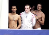 Ashley Cole Photo - Photo Must Be Credited AlphGlobe Photos Inc 061859 06-06-2006 Ashley Cole Wayne Rooney and David Beckham at the England Training Ground in Baden Baden Germany in Preparation For the World Cup 2006