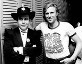 Elton John Photo - Elton John with Bjorn Borg in New York 12-21-1981 Photo by Pressens Bild-ipol-Globe Photos Inc