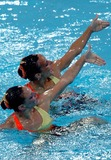 Anastasia Ermakova Photo - 2004 Olympic Games Athens-greece Synchronized Swimming 08232004 Photo by Mattia DalbertolapresseGlobe Photosinc Anastasia Davidova and Anastasia Ermakova Virginie Didieu and Laure Thibaud