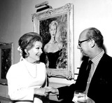 Anne Baxter Photo - Anne Baxter and Sammy Cahn d1044-23 Nate CutlerGlobe Photos Inc