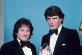 Christopher Reeve Photo - Robin Williams with Christopher Reeve 1982 12236 Photo by Allan S Adler-Globe Photos Inc