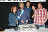 Chris Carter Photo - The X-files 200th Episode Celebration at Fox Studio Stage 5 in Los Angeles CA Gillian Anderson Chris Carter David Duchovny Annabeth Gish and Robert Patrick Photo by Fitzroy Barrett  Globe Photos Inc 4-5-2002 K24619fb (D)