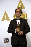 Alexandre Desplat Photo - Composer Alexandre Desplat Poses in Press Room of the 87th Academy Awards Oscars at Dolby Theatre in Los Angeles USA on 22 February 2015 Photo Alec Michael