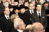 Albert de Monaco Photo - Funeral of Grande Duchesse Josephine Charlotte DE Luxembourg 01-15-2005 Albert DE Monaco Sybille Et Guillaume DE Luxembourg Omedias Le 15  01  05
