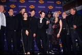 Johnny Cash Photo - Emmylou Harris with J Voight  T Robbins  S Crow  L Lovett  C Isaak  W Jean  F Harris  W Nelson  Kris Kristofferson at the Johnny Cash Tribute  Hammerstein Ballroom 1999 K15253smo Photo by Sonia Moskowitz-Globe Photos Inc