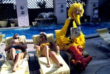 Big Bird Photo - Big Bird Goes Hollywood at the Pool of the Wilshire Hotel Photo Jeff Slocomb  Globe Photos Inc 1985 1970sretro