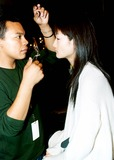 Ai Tominaga Photo - Fashion 2003 - Bryant Park - Tommy Hilfiger - Backstage - Ai Tominaga 9182003 Photo Byken RummentsGlobe Photos Inc 2003 Models