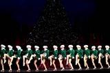 The Radio City Rockettes Photo - Katie Holmes Joins the Radio City Rockettes As They Kick Off Opening Night of the Radio City Christmas Spectacular at Radio City Music Hall  New York City 11072003 Photo by Rick Mackler  Rangefinders  Globe Photosinc the Rockettes
