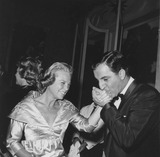 Danny Thomas Photo - June Allyson with Danny Thomas at deans dinnersupplied by Globe Photos Inc