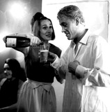 Peter O Toole Photo - Peter Otoole and His Wife Sian After His Performance in Hamlet at the Old Vic Theatre at Waterloo 1963 Globe Photos Inc Peterotooleretro