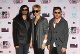 Jared Leto Photo - Tomo Milicevic (l-r) Jared Leto and Shannon Leto of 30 Seconds to Mars Arrive at the Mtv Emas - Europe Music Awards - at Caja Magica in Madrid Spain on November 7th 2010 Photo by Alec Michael-Globe Photos Inc