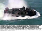 Train Photo - 970315 - F-4669L-003A US Navy Landing Craft Air Cushion or LCAC as it is more commonly called hustles a cargo of Marine equipment from amphibious ships to the beach head at Freshwater Beach Rockhampton Australia during exercise Tandem Thrust 97 on March 15 1997  Tandem Thrust is a combined military training exercise involving 28000 personnel 252 aircraft and 43 ships and is designed to train US and Australian staffs in crisis action planning and contingency response operations  DoD photo by Senior Airman Blaze Lipowski US Air Force