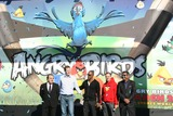 Angry Bird Photo - JIM GIANOPULOS NIKLAS HED JAMIE FOXX PETER VESTERBACKA GEORGE LOPEZCEO FOX FILM AND ACTORS AND CREATORS OF ANGRY BIRDS GAMERIO ANGRY BIRDS GAME LAUNCHCENTURY CITY LOS ANGELES 01-28-2011Photo by Graham Whitby Boot-Allstar - Globe Photos Inc-Globe Photos  2010K67459alst