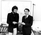 Cat Stevens Photo - Cat Stevens (Yusuf Islam) Presents Mr Jack Ling Director of Unicef Public Information in New York with a Check For 10000000 Supplied by Globe Photos Inc