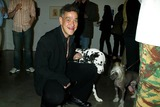 Andres Serrano Photo - Sd0521 Canine Cocktail Party to Benefit Art For Animals Gagosian Gallerynew York City Photosonia Moskowitz  Globe Photos Inc2003 Andres Serrano and His Dog Luther