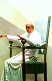 John Paul Photo - Painting of Pope John Paul Ii by Andre Durand Photo Uppa  Globe Photos Inc 1999