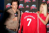 Andrew Shue Photo - A Soccer Jersey Is Donated to Planet Hollywood by Carly Schroeder and Andrew Shue to Promote Their Film Gracie Times Square 05-18-2007 Photos by Rick Mackler Rangefinder-Globe Photos Inc2007 Carly Schroeder and Andrew Shue