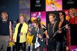 Aerosmith Photo - Sd0525 Aerosmith Presser on Their Album Cover Just Push Play Steven Tyler Ciprianis 42nd Street NYC Photo John Barrett  Globe Photos Inc