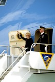 President Ronald Reagan Photo - NANCY REAGAN WAVES BEFORE FLYING TO WASHINGTON -The flag draped casket of former president Ronald Reagan is carried in the hearse for transport to the Naval Base Ventura County at Point Mugu from the Ronald Reagan Presidential Library and then flown to Washington DC for the state funeralMOORPARK CA -06092004 -PHOTO BY POOLGLOBE PHOTOS INC2004K37630NP