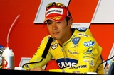 Alex Barros Photo - LISBON PORTUGAL The Moto GP competition press conference Italian Racer Valentino Rossi won Portugal Moto GP Makoto Tamada (Japan) was second and Alex Barros (Brazil) was third In photo Second at the Moto GP Portugal Makoto Tamada952004PHOTO ALVARO ISIDOROCITYFILESGLOBE PHOTOS INC  2004K39151